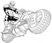 moto spider man 4x4 dessin à colorier