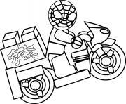 moto lego spiderman dessin à colorier