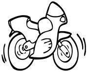 moto facile simple dessin à colorier