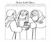 judas trahit jesus dessin à colorier