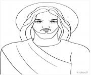 jesus cartoon dessin à colorier