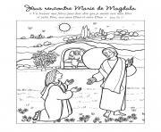 jesus rencontre marie de magdala dessin à colorier