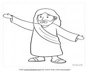 jesus dessin à colorier