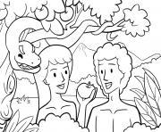 Fall in Garden Genesis 3_1 15 02 dessin à colorier