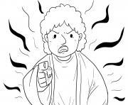 Jesus Demonic in Synagogue Mark 1_21 28_02 dessin à colorier