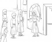 Martha Mary Luke 10_38 42_01 dessin à colorier
