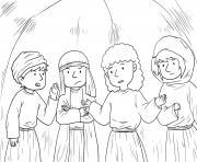 Jesus in Hometown Mark 6_1 6_03 dessin à colorier