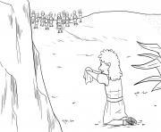 David and Sauls Robe Samuel 24_1 12_04 dessin à colorier