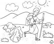 Jacob Ladder Dream Genesis 28_12 22_01 dessin à colorier