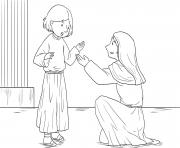 Jesus as Boy Luke 2_40 52_04 dessin à colorier