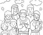 Moses Rock One Exodus 17_1 7_02 dessin à colorier