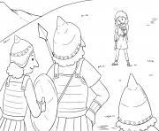 Goliaths Defeat Samuel 17_39 51_02 dessin à colorier