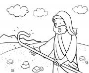 Doubt of Moses Exodus 4_10 17_04 dessin à colorier