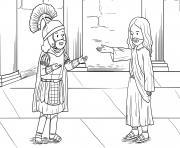 Centurions Faith Matthew 8_5 13_03 dessin à colorier