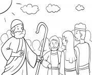 God Pharaoh Moses Exodus 12_5 14_03 dessin à colorier