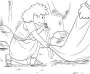 David and Sauls Robe Samuel 24_1 12_03 dessin à colorier