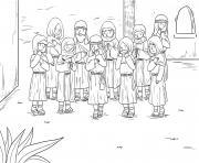 Ten Lepers Luke 17_11 19_01 dessin à colorier