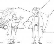 Saul Loses Kingship Samuel 13_6 14_04 dessin à colorier