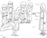 Blind Bartimaeus Mark 10_46 52_03 dessin à colorier