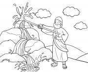 Moses Rock One Exodus 17_1 7_04 dessin à colorier