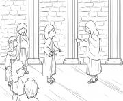 Jesus Demonic in Synagogue Mark 1_21 28_01 dessin à colorier