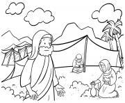 Moses Rock One Exodus 17_1 7_01 dessin à colorier
