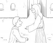 Ten Lepers Luke 17_11 19_04 dessin à colorier