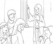 Bent Woman Luke 13_10 17_04 dessin à colorier