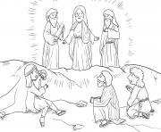 Transfiguration Matthew 17_1 9_01 dessin à colorier