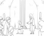 Jesus in Hometown Mark 6_1 6_02 dessin à colorier