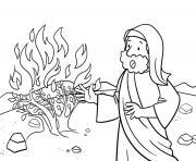 Doubt of Moses Exodus 4_10 17_01 dessin à colorier