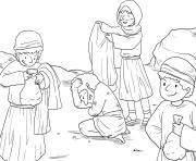 Good Samaritan Luke 10_25 37_02 dessin à colorier
