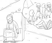 Saul Loses Kingship Samuel 13_6 14_02 dessin à colorier