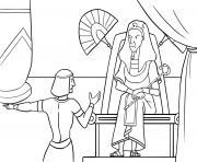 God Pharaoh Moses Exodus 12_5 14_01 dessin à colorier
