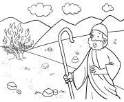 Burning Bush Exodus 3_1 12_02 dessin à colorier