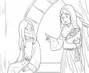 Martha Mary Luke 10_38 42_03 dessin à colorier