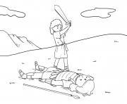Goliaths Defeat Samuel 17_39 51_04 dessin à colorier