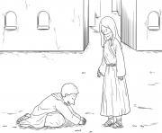 Ten Lepers Luke 17_11 19_03 dessin à colorier