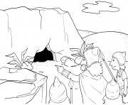 David and Sauls Robe Samuel 24_1 12_01 dessin à colorier