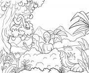 Fall in Garden Genesis 3_1 15 01 dessin à colorier