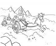 God Pharaoh Moses Exodus 12_5 14_02 dessin à colorier
