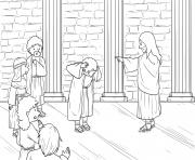 Jesus Demonic in Synagogue Mark 1_21 28_03 dessin à colorier