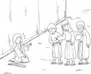Blind Bartimaeus Mark 10_46 52_02 dessin à colorier
