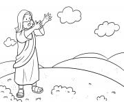 Moses Rock One Exodus 17_1 7_03 dessin à colorier