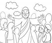 God Pharaoh Moses Exodus 12_5 14_04 dessin à colorier