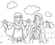 Abram and Sarai Genesis 28_10 22 02 dessin à colorier