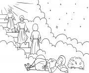 Jacob Ladder Dream Genesis 28_12 22_02 dessin à colorier