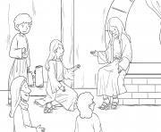 Martha Mary Luke 10_38 42_02 dessin à colorier