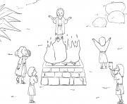Saul Loses Kingship Samuel 13_6 14_03 dessin à colorier