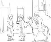 Good Samaritan Luke 10_25 37_04 dessin à colorier